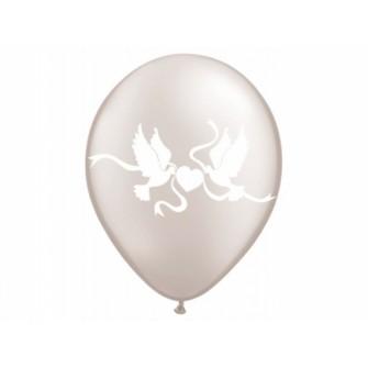 """Balóny """"HOLÚBKY"""" - Priesvitné (10 ks) - Obrázok č. 1"""
