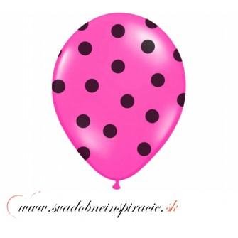"""Balóny """"POLKA DOTS"""" - Fuchsia (6 ks) - Obrázok č. 1"""
