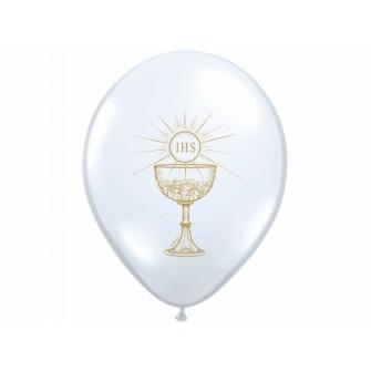 Balóny SV.PRIJÍMANIE - Biele (10 ks) - Obrázok č. 2