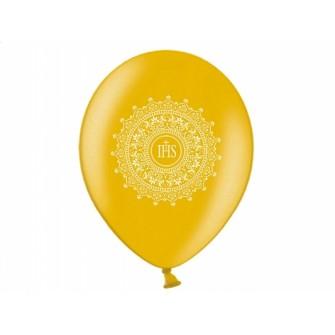 Balóny SV.PRIJÍMANIE - Zlaté (6 ks)  - Obrázok č. 2