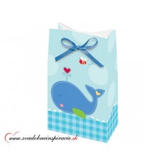 Darčekové tašky AHOY BABY - Modré (12 ks) - Obrázok č. 1