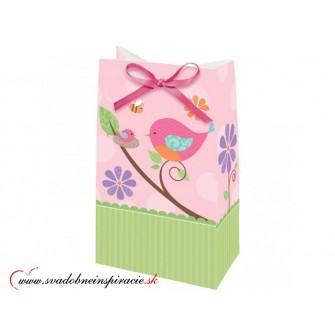 Darčekové tašky TWEET BABY - Ružové (12 ks) - Obrázok č. 1