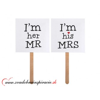 Kartičky na fotenie IM HER MR. IM HIS MRS.  - Obrázok č. 1