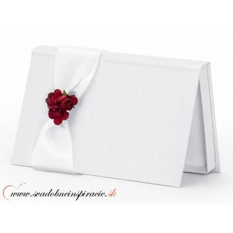 Krabička na peňažný dar pre novomanželov BIELA - Obrázok č. 1