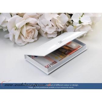 Krabička na peňažný dar pre novomanželov BIELA - Obrázok č. 2
