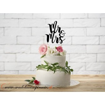 """Nápis na tortu """"MR&MRS"""" - Obrázok č. 1"""