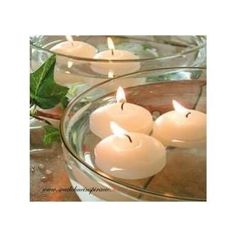Plávajúce sviečky - SMOTANOVÉ (50 ks) - Obrázok č. 1