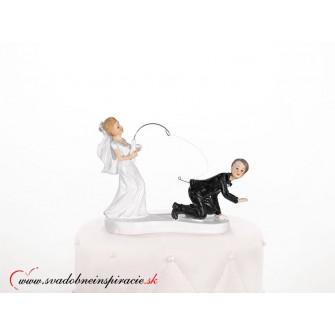 "Postavička na svadobnú tortu ""ŽENÍCH NA UDICI"" - Obrázok č. 1"