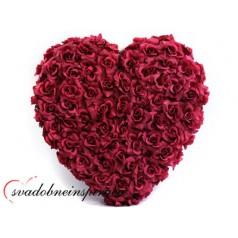 Srdce z ruží - plné /BORDOVÉ, BIELE/  - Obrázok č. 1