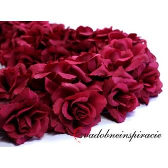 Srdce z ruží - plné /BORDOVÉ, BIELE/  - Obrázok č. 2