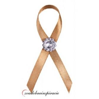 """Svadobné pierka """"Diamantík"""" - zlaté  - Obrázok č. 1"""
