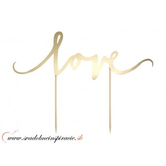 """Nápis na tortu """"LOVE"""" - Obrázok č. 1"""