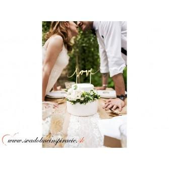 """Nápis na tortu """"LOVE"""" - Obrázok č. 2"""