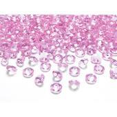 Dekoračné kamienky - DIAMANTÍKY malé (ružové), 100,