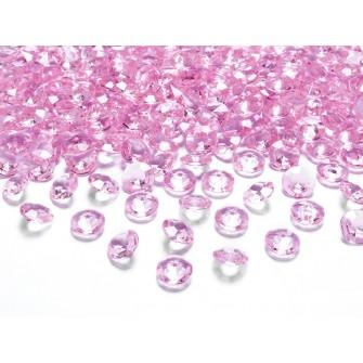 Dekoračné kamienky - DIAMANTÍKY malé (ružové), 100 - Obrázok č. 1