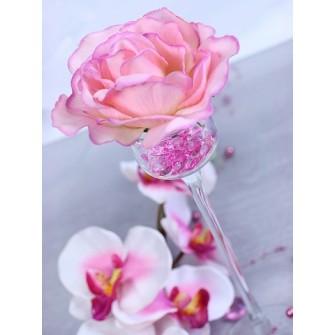 Dekoračné kamienky - DIAMANTÍKY malé (ružové), 100 - Obrázok č. 2