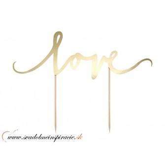 """Zápich na tortu """"LOVE"""" - Obrázok č. 1"""