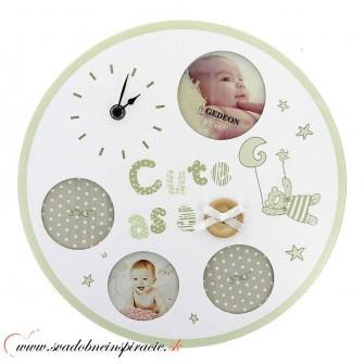 Detský fotorámik s hodinami BABY LOVE - Obrázok č. 1