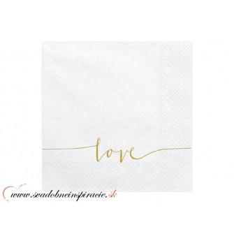 Servítky 3-vrstvové s potlačou - LOVE (20 ks) - Obrázok č. 1