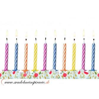 Tortové sviečky (10 ks) - Obrázok č. 1