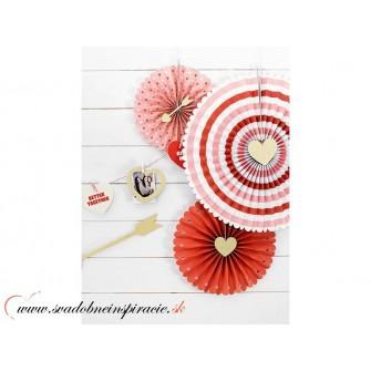 """Dekoračné papierové rozety """"SWEET LOVE"""" (3 ks) - Obrázok č. 1"""