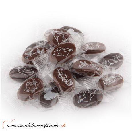Mini svadobné čokoládky (150 ks) len 0,14 Eur/ks - Obrázok č. 1
