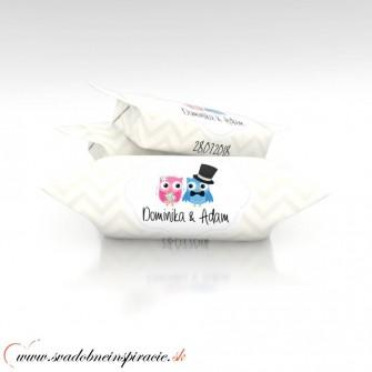 Svadobné krovky s menami KRS06(1 kg)- len 0,30e/ks - Obrázok č. 1