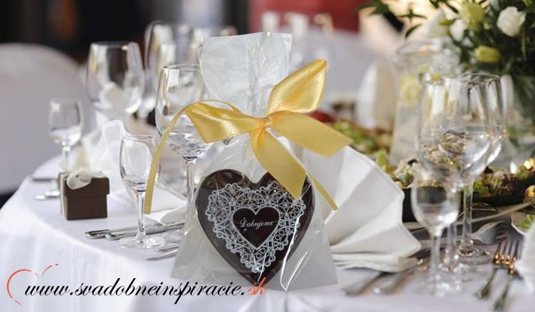 """Svadobné čokoládky """"SRDIEČKO"""" - aj s Vašimi menami - Obrázok č. 1"""