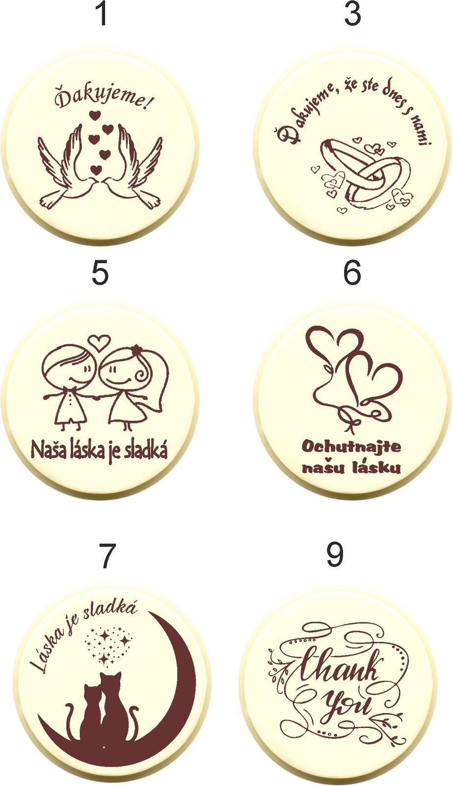 """Svadobná čokoládka """"DUKÁTIK"""" - PERSONALIZOVANÁ - Obrázok č. 4"""