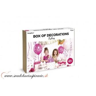 Set party dekorácií - PRINCEZNÁ (31 ks) - Obrázok č. 2
