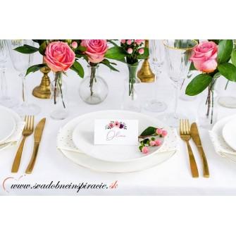 Menovky na stôl - FLORAL (25 ks)  - Obrázok č. 2