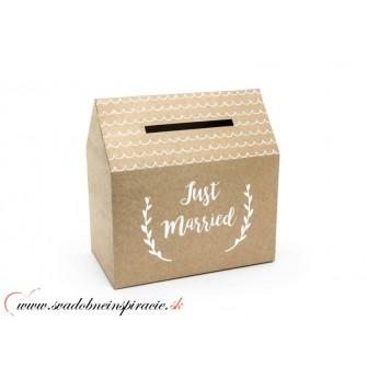 Krabička na telegramy JUST MARRIED - Obrázok č. 1