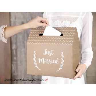 Krabička na telegramy JUST MARRIED - Obrázok č. 2