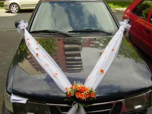 to je naše autí na svatbě švagra