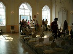 Nádherný sál, kde bude obřad