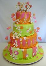 A o tomto veselém dortu také dost uvažuju...jen asi místo zelené nějaká smetanová nebo tak něco...