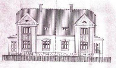 Tak to je stav původní (rok 1922) a snad i stav cílový, chceme domu co nejvíce vrátit původní podobu