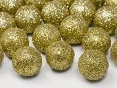 Dekoračné glitrové guličky zlaté,