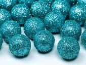 Dekoračné glitrové guličky tyrkysové,