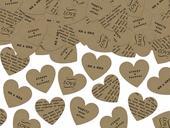 Dekoračné konfety srdiečka Rustic,