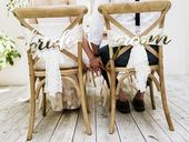 Ozdoba na stoličku Bride and Groom,