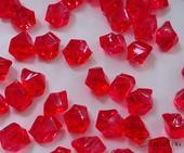 Dekoračné kryštály červené 15mm,