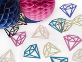 Dekoračné konfety Diamond farebné,