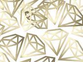 Dekoračné konfety Diamond zlaté,