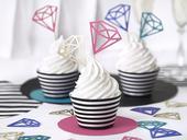Zápichy na cupcakes Diamond farebné,