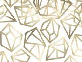 Dekoračné konfety Gems zlaté,