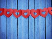 Girlanda červené srdcia,