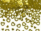 Dekoračné konfety zlaté srdiečka,
