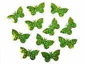 Konfety zelené motýle,