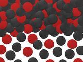 Konfety červeno čierne,